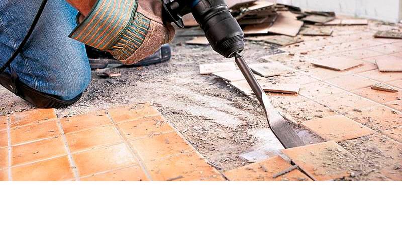 Демонтаж плитки в Минске и области